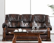 European Design Leather Sofa Bed in Light Brown Finish 33SS152