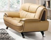 European Design Loveseat in Light Beige Finish 33SS73