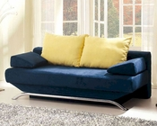 European Design Modern Sofa Bed in Vibrant Blue Finish 33SS163