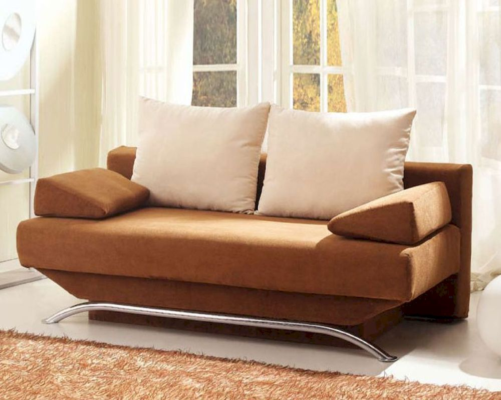 Modern sofa chairs design - European Design Modern Sofa Bed In Warm Brown Finish 33ss161
