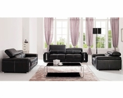European Design Modern Sofa Set in Dark Brown Finish 33SS121