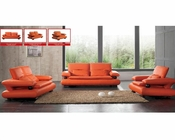 European Design Modern Sofa Set in Orange Finish 33SS81