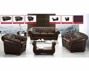 European Design Sofa Set in Brown Finish 33SS61
