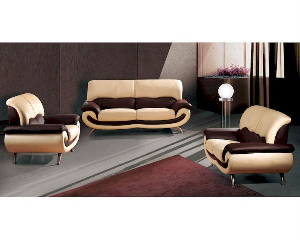 European Furniture Modern Two Tone Sofa Set 33ss11
