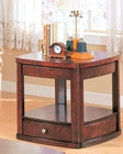 Evans Contemporary End Table with Drawer and Shelf CO700247