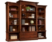 Executive Bookcase Wall in Weathered Cherry by Hekman HE-79274-SET