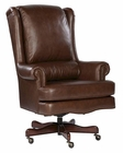 Executive Chair in Coffee Leather by Hekman HE-79254C