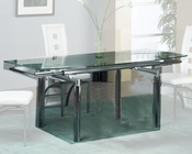 Extension Dining Table w/Glass Top  OL-DT07