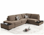 Fabric Sectional Sofa Bed in Contemporary Style 44L6015