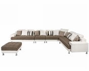Fabric Sectional Sofa in Contemporary Style 44L6018