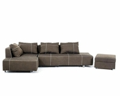 Fabric Sectional Sofa w/ Chaise in Contemporary Style 44L6035