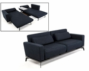 Fabric Sofabed in Modern Style 44L062-BLK