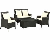 Flourish Patio Sofa Set in Espresso White by Modway MY-EEI964EW