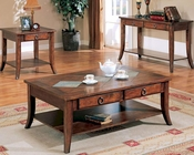 Franklin Cocktail Table Set with Slate Tile Top and Storage CO70025