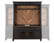 French Black Console and Hutch Barnhardt by Magnussen MG-E2588CH
