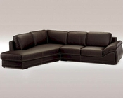 Full Leather Espresso Sectional Sofa Set 44LHLY