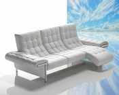 Full Leather Sofa w/ Chaise Made in Italy 44L6014
