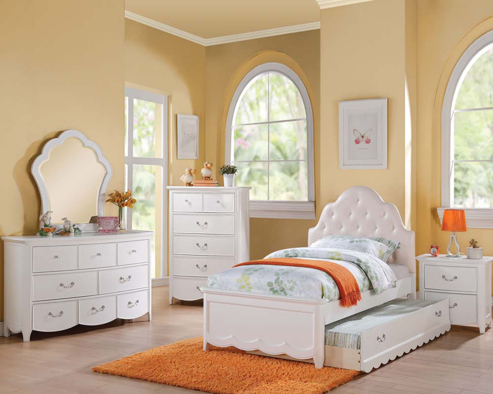 Http Www Homefurnituremart Com Girls White Bedroom Set Cecilie Acme Furniture Html