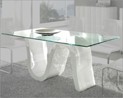 Glass Top Dining Table Made in Spain Wave 33221WV
