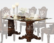 Glass Top Dining Table Vendome Cherry by Acme Furniture AC62005