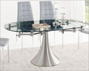 Glass Top Dining Table w/ Extension T017