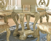 *Glass Top Round Dining Table in White MCFD6009-5454T