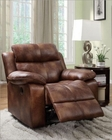 Glider Reclining Chair Brooklyn Heights by Homelegance EL-9635PM-1