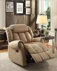 Glider Reclining Chair Mankato in Beige by Homelegance EL-8535BE-1