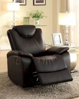 Glider Reclining Chair Talbot by Homelegance EL-8524BK-1