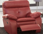 Glider Reclining Chair Wallace by Homelegance EL-9604RED-1