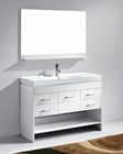 Gloria 48in Single Bathroom Set in White by Virtu USA VU-MS-575-C-WH