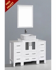 Glossy White 48in Single Vanity by Bosconi BOAW124RC2S