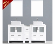 Glossy White 72in Double Vanity by Bosconi BOAW230RC1S