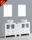 Glossy White 72in Round Double Sink Vanity by Bosconi BOAW230RO1S
