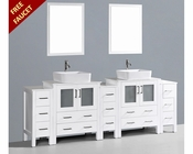 Glossy White 96n Double Vanity by Bosconi BOAW230RC3S