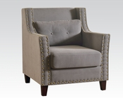Gray Linen Accent Chair by Acme AC59320
