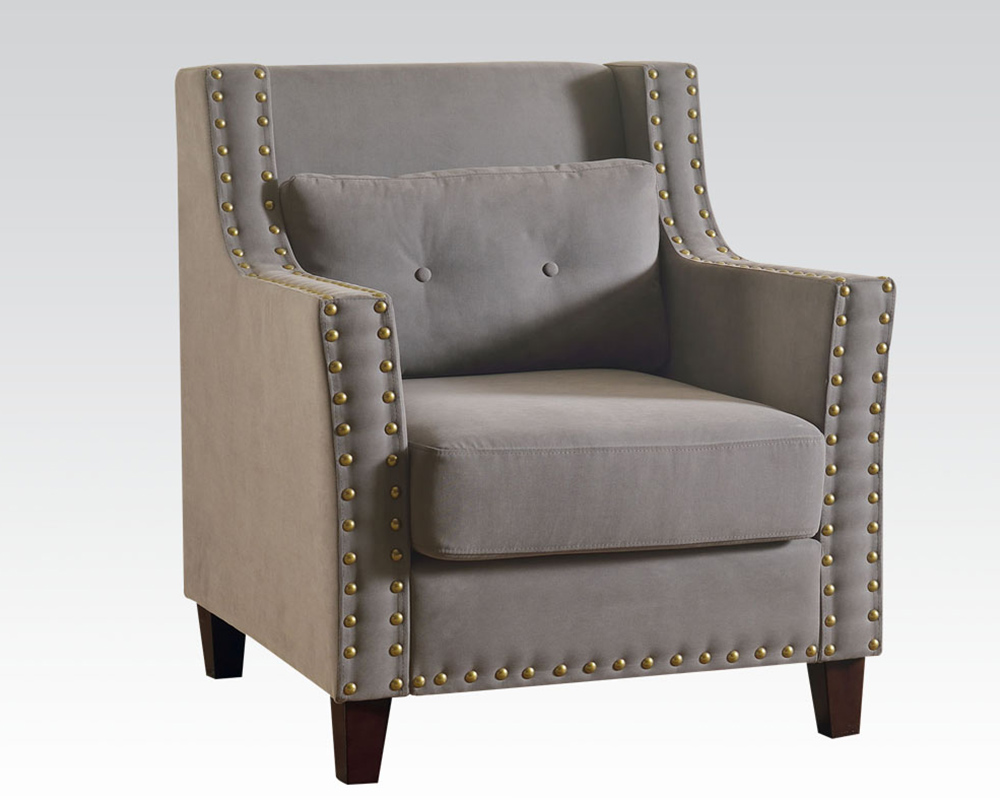 Gray Linen Accent Chair by Acme AC