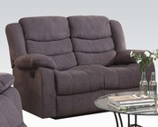 Gray Velvet Motion Loveseat Jacinta by Acme Furniture AC51411