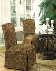 Green Floral Parson Dining Chair CO-190072  (Set of 2)