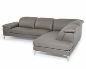 Grey Eco-Leather Sectional Sofa 44L5935