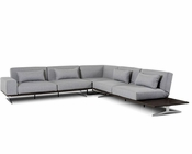 Grey Fabric Sectional Sofa 44L6033