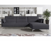 Grey Fabric Sofa Bed Sectional in Contemporary Style 44L5951