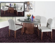 Grey Walnut Dining Set in Contemporary Style 44D2609X3-SET