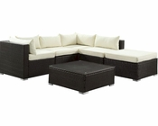 Hampton Patio Sectional Set in Espresso White by Modway MY-EEI975EW