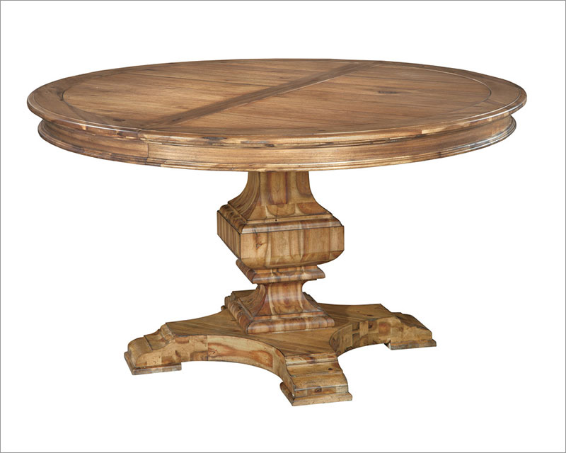 Hekman Acacia Round Dining Table Wellington Hall HE 23321