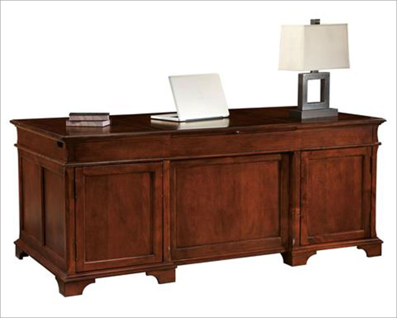 Hekman Executive Desk in Weathered Cherry HE