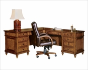 Hekman Executive L-Desk Urban HE-79107
