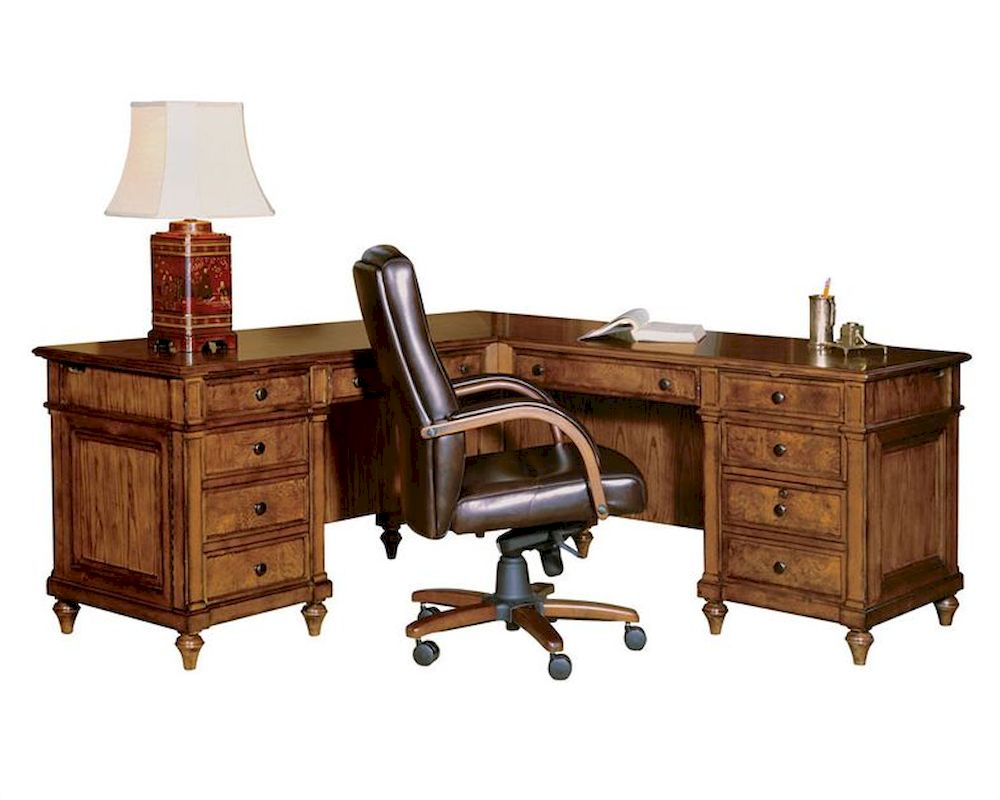 Hekman Executive L Desk Urban HE