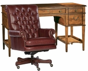 Hekman Office Set w/ Leather Top Leg Desk HE-71111-SET