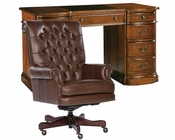 Hekman Office Set w/ Round Front Pedestal Desk HE-71109-SET